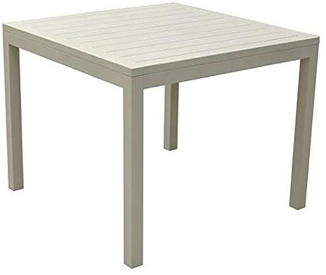 Tavoli Da Giardino In Alluminio Amazon.Amicasa Tavolo Da Giardino Alluminio Tavolino Quadrato 94x94 Cm