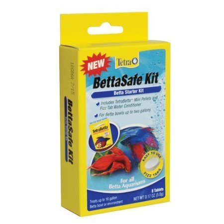 Betta Fish Tank Fizz Tab Water Conditioner, BettaSafe Kit - Accessories and Supplies for your Pet Betta Fish Aquarium