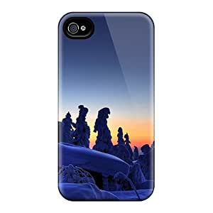 New Style LauraKrasowski Frozen Trees Sunset Premium Covers Cases For Iphone 6