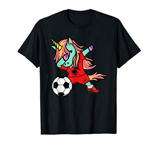 (Unicorn Dab Albania Soccer Jersey Albanian Football T Shirt)