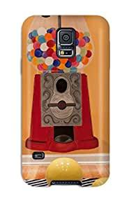 Hand-painted Gumball Machine On Orange Playroom Wall Phone Case For Galaxy S5