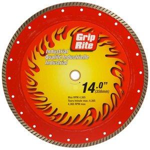 UPC 764666571105, Grip-Rite GRTDB14I 14-Inch Industrial Turbo Rim Diamond Blade