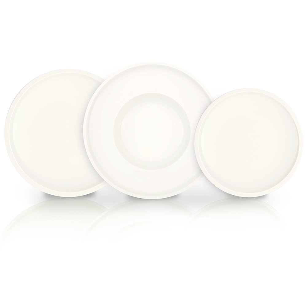 Artesano Dinnerware Set of 12 by Villeroy & Boch - Premium Porcelain - Made in Germany - Dishwasher and Microwave Safe - Includes Dinner, Salad, and Pasta Plates - Service for 4