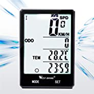 Bicycle Computer, Wireless Waterproof Bicycle Speedometer and Odometer, Bicycle Luminous Riding Accessories wi