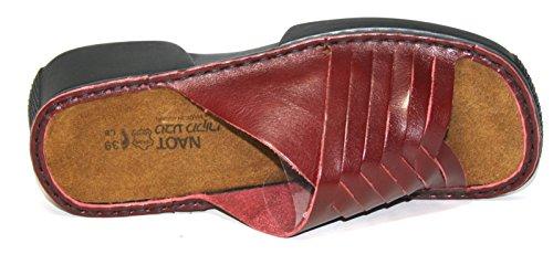 Naot Bonita - Zuecos de Piel para mujer rojo rojo Rot (red 300)