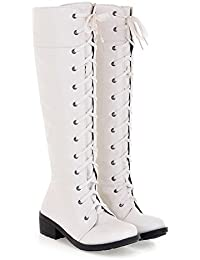 Amazon.com: White - Over-the-Knee / Boots: Clothing, Shoes & Jewelry