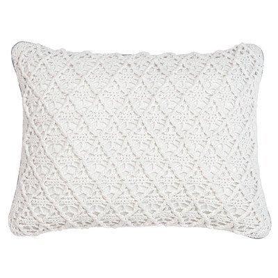 Croscill Cape collection May Boudoir Pillow, Polyester/Polyester blend, embellished covered cord.
