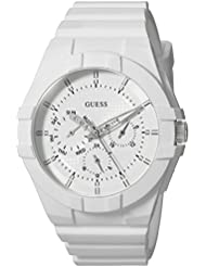 GUESS Womens Silicone Casual Watch, Color: White (Model: U0942L1)