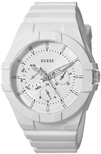 GUESS Women's Quartz Rubber and Silicone Casual Watch, Color:White (Model: U0942L1)