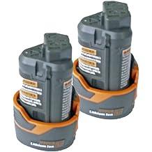 Ridgid R82007 12V Drill Replacement R82048 2.0 ah Hyper Li-on Battery (2 Pack) # 130188001