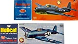 Guillow Pair of 2 Balsa Wood Flying Model WWII Carrier-Based Airplanes