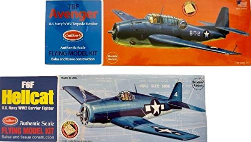 Guillow Pair of 2 Balsa Wood Flying Model WWII Carrier-Based Airplanes by Guillow (Image #6)