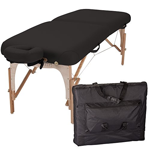 INNER STRENGTH Portable Massage Table Package E2 – Full Reiki Massage Table Incl. Deluxe Adjustable Face Cradle, Pillow Carry Case 30 x73