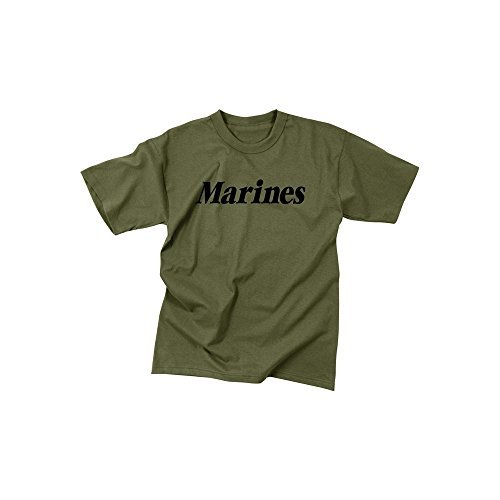 Rothco Kids T-Shirt/Marines - Olive Drab, S Size