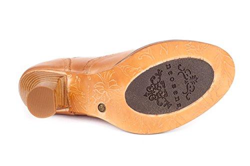 Neosens Damen Rococo Stiefeletten Schnürstiefeletten Beige Gr. 37