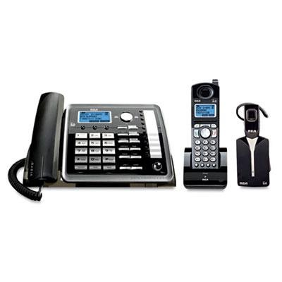 RCA Visys 25270Re3 Two-Line Corded/Cordless Phone System With Cordless Headset, Case of 2 by RCA
