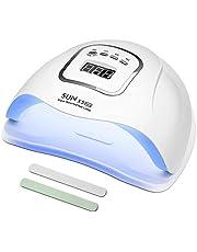 Nageldroger, 150W, uv-/ledlampjes, voor gelnagels, met instelbare timer voor 10, 30, 60 en 99 seconden, infraroodsensor, lcd-scherm, voor snel droge nagels