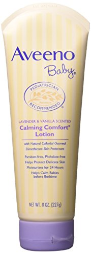 Aveeno Baby Lavender & Vanilla Calming Comfort Lotion, 8 oz (Pack of 2) -