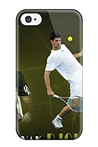 Durable Defender Case For Iphone 4/4s Tpu Cover(novak Djokovic Pictures)