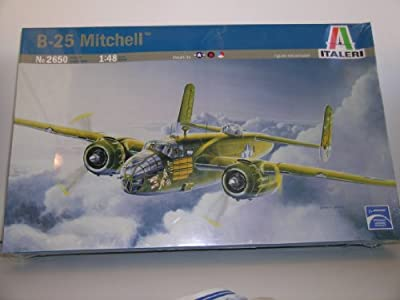 "Italeri ""WW II U.S. B-25 Mitchell Bomber Aircraft"" Plastic Model Kit"