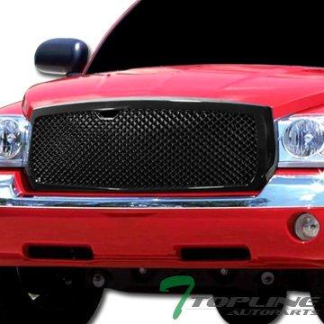 Topline Autopart Black Sport Mesh Front Hood Bumper Grill Grille Cover ABS 05 06 07 Dodge Dakota