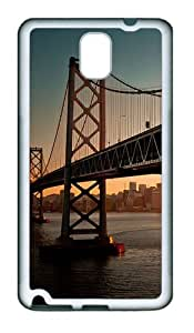Samsung Galaxy Note 3 N9000 Case and Cover -Downtown Bay Bridge Sa TPU Silicone Rubber Case Cover for Samsung Galaxy Note 3 N9000¨C White