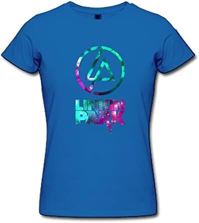 BOAIS Rock Band Linkin Park Logo Lady Custom Short Sleeve T Shirts 100% Cotton