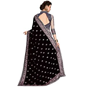 Nivah Fashion Women's Satin Saree With Blouse Piece