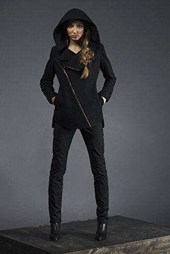 Women's Cross Zip Hooded Jacket by elizabethjane