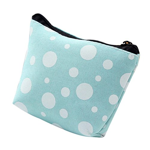 Portable Bite Cable Headset Storage Pencil Case Cosmetic Bags Purse (Sky Blue)