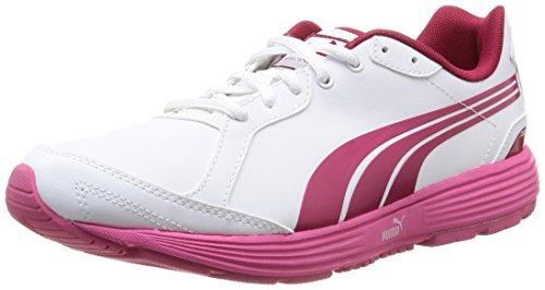 Puma Descendant Jr - Zapatos de deporte de exterior White/Cerise/White