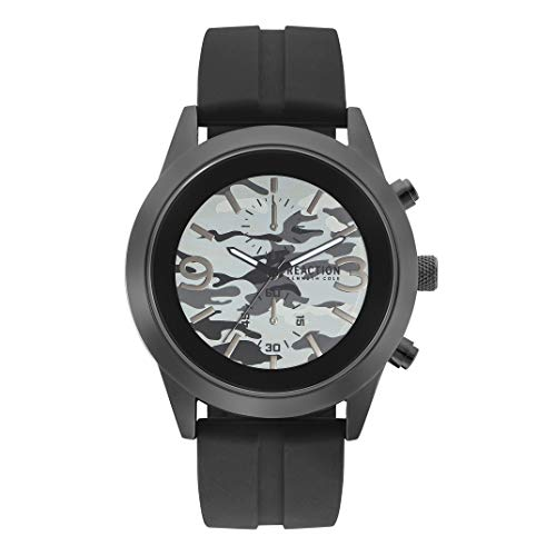 Amazon.com: Kenneth Cole REACTION Mens Dress Sport Analog-Quartz Watch with Silicone Strap, Black, 24 (Model: RK50546001: Watches