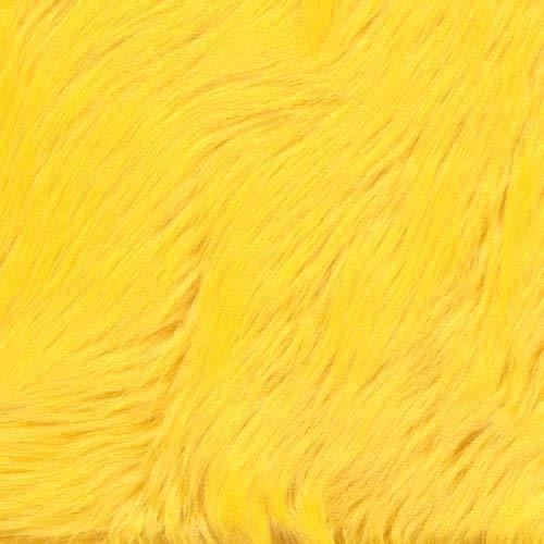FabricLA Shaggy Faux Fake Fur Fabric - Half Yard (Golden Yellow)