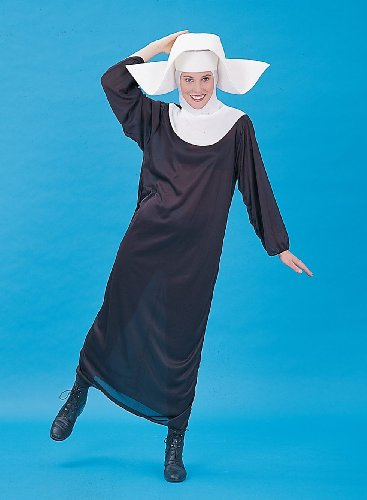 [Forum Nun Better Costume, Black, One Size] (Nun Habit Halloween Costume)