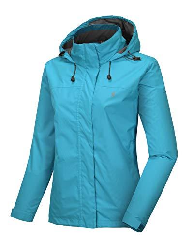 Little Donkey Andy Women's Waterproof Mountain Jacket, Rain Jacket Aqua XS