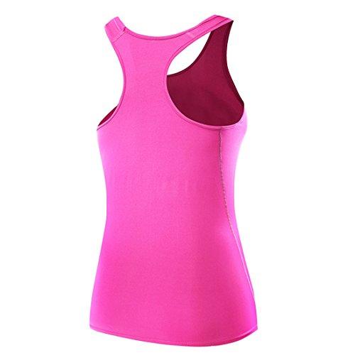 FOLLOWUS - Camisa deportiva - sin mangas - para mujer rosa (b)