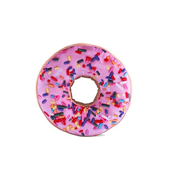 Pink Donut Throw Pillow Plush 1