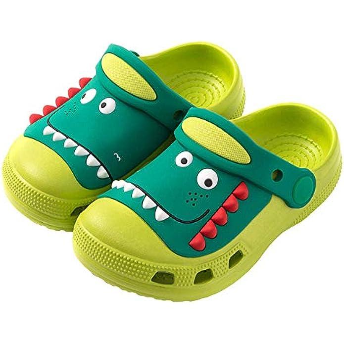 Namektch Toddler Little Kids Clogs Slippers Sandals, Non-Slip Girls Boys Clogs Slide Lightweight Garden Shoes Slip-on Beach Pool Shower Slippers