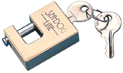 (Brass Coupler Lock with Stainless Pin Seadog Line 751020-1)