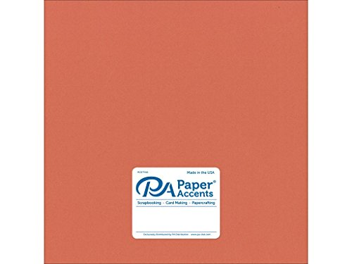 Accent Design Paper Accents Adp1212 25 18011 No 74 12  X 12  Sun Coral Smooth Card Stock