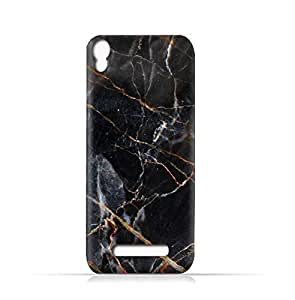 AMC Design Lava Iris 702 TPU Silicone Case With Dark Grey Marble Texture - Multi Color