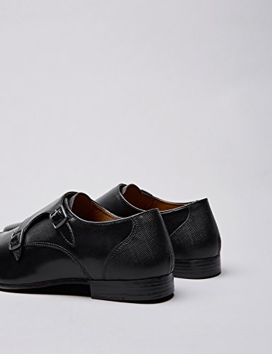 ... FIND Zapatos estilo Monje de Doble Hebilla para Hombre Negro (Black)