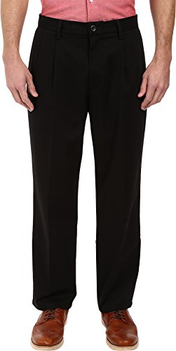 ure Khaki D4 Relaxed Fit Pleated Black Stretch 38 36 ()