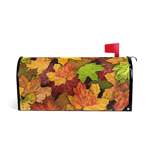 ALAZA Autumn Leaves Magnetic Mailbox Cover Oversized-25.5