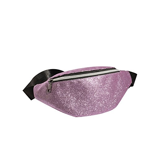 Robemon Shoulder Bag Women Casual Bag Messenger Waist Bag Messenger Chest Bling Fashion Purple Sequins Bag Pack Bum 57nFFwcUgq