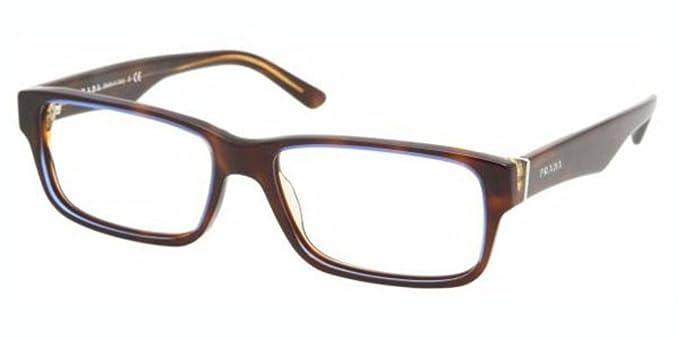 18f6fa585bc Image Unavailable. Image not available for. Colour  Prada PR 16MV  Eyeglasses Styles - Tortoise Denim Frame w Non-Rx 53 mm