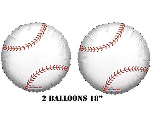 Kaleidoscope Baseball Balloons (2 balloons) AMZKIT832, White, 18