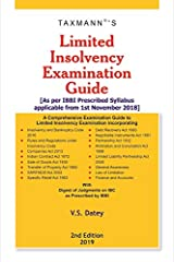 Limited Insolvency Examination Guide-As per IBBI Prescribed Syllabus applicable from 1st November 2018 (2nd Edition 2019) Kindle Edition