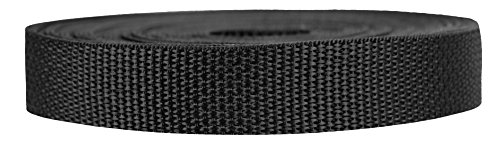 Strapworks Lightweight Polypropylene Webbing - Poly Strapping for Outdoor DIY Gear Repair, Pet Collars, Crafts - 3/4 Inch by 10, 25, or 50 Yards, Over 20 Colors ()