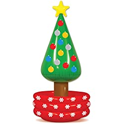 """Beistle 20020 Inflatable Christmas Tree Cooler, 26"""" x 4' 8"""", Multicolored"""